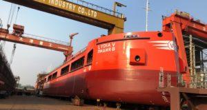 На китайской судоверфи спущен на воду третий новый сухогруз для ростовской компании АСТОН